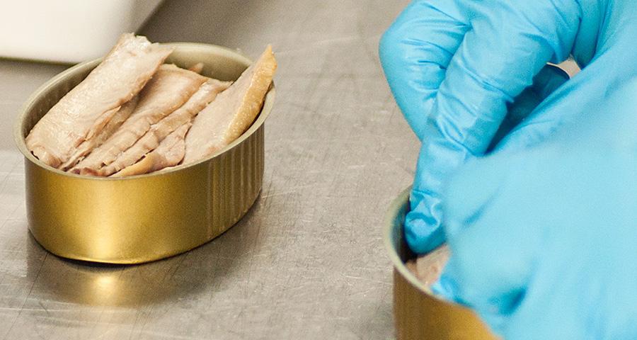 La Ventresca de Atún Claro se coloca con cuidado a mano en cada lata