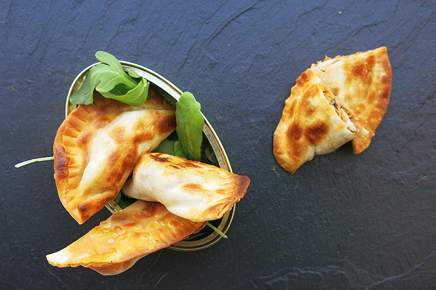 Receta empanadillas de mejillones en salsa de Vieira con San Simón da Costa