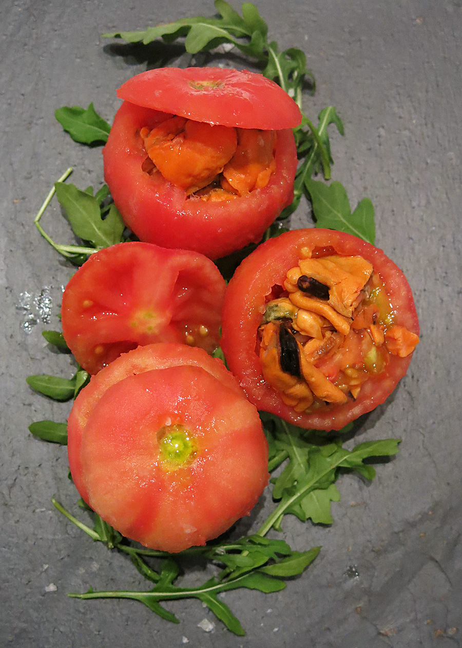 Receta Tomate Relleno de Mejillones en escabeche