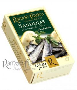 Sardinillas 8/10 piezas en aceite de oliva