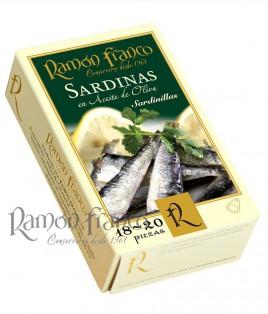 Sardinillas 18/20 piezas en aceite de oliva